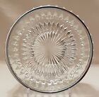 – Clear Glass Diamond Pattern Silver Rimmed Bowl