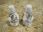 AYNSLEY BONE CHINA PEMBROKE SALT PEPPER SHAKERS MADE IN ENGLAND BIRDS