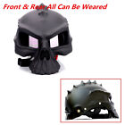 Universal M Size Dual Use Skull Motorcycle Bike Helmet Wicking Half Face w/Lens