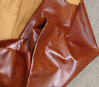 Z52 Leather Cow Hide Cowhide Upholstery Craft Fabric Whiskey Brown