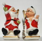 NAPCO 8139N  Mr  Mrs Clause Salt  Pepper shakers in Rocking Chairs