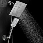 DreamSpa Luxury 9 Rainfall Shower Head Handheld Combo With Flow Control Button