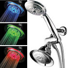 HotelSpa LED 3 Way Shower Combo High Performance Shower Head and HandHeld