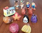 Large Lot Salt Pepper Shakers Enesco Donkey Fish Cats Fruit House Tiger