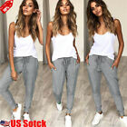 Womens Casual Jogger Dance Harem Sport Pants Baggy Slacks Trousers Sweatpants US