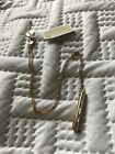 Micael Kors Gold Bar Necklace With Pave