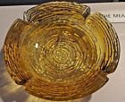 MCM - Anchor Hocking Soreno Gold Glass Ashtray, c1960s, Coin Dish