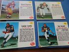 Lot of (14) 1962 Post Football Cards - Meredith,Nolan,Lundy,Etc.