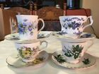 Lot of 4 Vintage Tea cup and Saucer Sets English Bone China Floral