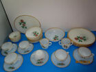 33 Vintage Fire King Oven white and gold Ware ROSE Dinner set  Made in USA.