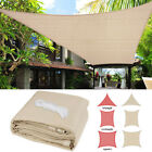 Sun Shade Sail UV Block Canopy Patio Lawn Pool Awning Top Cover Outdoor 9 12 16