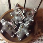 6 Primitive Grungy Gingerbread men  Christmas winter
