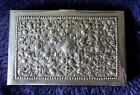 An Islamic/ Persian solid silver visiting card case.