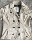 Womens Vintage Abercrombie and Fitch New York Khaki Pea coat Jacket Medium