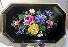 """"""" x 16.5"""" Roses Metal Tole Display Serving Tray"""
