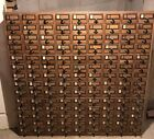 library card catalog cabinet 126!Drawers Vintage Wine Storage American Oak