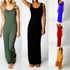 Womens Basic Tank Bodycon Sleeveless Scoop Neck Solid Slim Fit Casual Long Dress