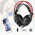 New Headset gaming Microphone Headphone with 3.5mm for PC Laptop Computer BT