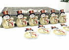 25pcs hristmas snowman Wood Buttons Fit decoration Kid's Christmas crafts 35mm