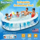 90Inflatable Family Swimming Pool Outdoor Backyard Summer Lounge Water Fun Kid