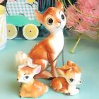 Rare Vintage Ceramic Chained Deer  Fawn Figurines