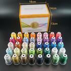 Polyester Embroidery Machine Thread Set  - 40 Spools, 500 meters each