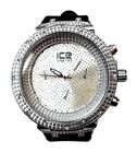 Mens Fashion Watch Ice Master BM1033  Black Silicone Band Silver Dial