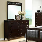 8 Drawers Dresser Mirror Set Chest Cabinet Luxury Home Furniture Storage