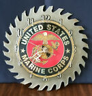 United States Marine Corps Saw Blade Wall Clock Hand Made in the USA *Pristine*