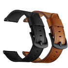 22mm Quick Release TOP Genuine Leather Watch Band Replacement Strap Black Brown