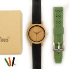 BOBO BIRD Fashion Men Watch Bamboo Wooden Soft Silicone Strap Gifts For Him Male