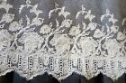 Antique Tambour Net Lace Hand Embroidered Trim 4