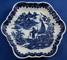 Antique 18thC Worcester Porcelain Fisherman Pattern Tea Pot Undertray English