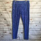 Lularoe Yoga Pants Sz L eggings Tall & Curvy Blue Streachy Geometric Soft