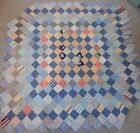 Antique Patch Work Quilt Top Chambray perhaps Feed Sack