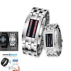 Couple LED Sports Wristwatch Digital Waterproof Stainless Steel Date Watch US