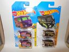 2 HOT WHEELS TREASURE HUNT KOOL KOMBI VW VOLKSWAGEN BUS + 2 MOONEYES SUPER COOL