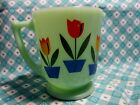 Jadeite Green Glass Dutch Tulip 4 Cup Measuring Cup in Very Good Condition