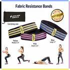 Best 3 Piece Set Hip Circle Peach Booty Glute Squat Resistance Fitness Bands New