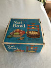 VINTAGE WOODEN WISHING WELL NUT BOWL BASKET NUT CRACKER HOLIDAYS NEW OLD STOCK !