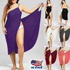 Women Swimwear Scarf Beach Cover Up Wrap Sarong Sling Skirt Maxi Dress Plus Size