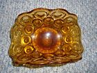 Amber fan Candy Dish, napkins,bread dish  READ LISTING ABOUT SHIPPING