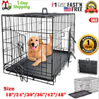 Extra Large Dog Crate Kennel 48 42 36 30 24 Folding Pet Cage Metal US SHIP