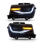 LED Headlight For CHEVROLET CAMARO 2014 2015 Dual Beam Black Housing Head Lens