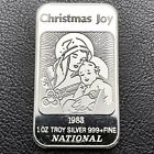 1983 Christmas Joy Nativity Scene 1 oz 999 Silver Art Bar National 0818