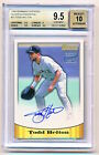 1998 Bowman Todd Helton Silver On Card Autograph Auto Rookie Rc BGS 9.5 10 POP 1