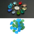 Sea Beach Glass Beads Mixed Color Bulk Blue Green Jewelry Pendant Decor 12-18mm