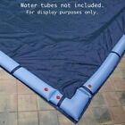 16 x 36 Inground Pool Cover Blue Black Rectangle 8 Year Warranty