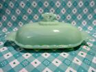 Jadeite Green Glass Anna 1 Stick Butter Dish with Lid in Excellent Condition