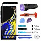 For Samsung Galaxy Note 9 Front Touch Screen Glass Lens Replacement UV Glue Tool